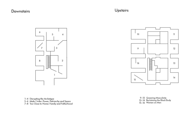 Plan of the 'Masculinities: Liberation through Photography' exhibition spaces