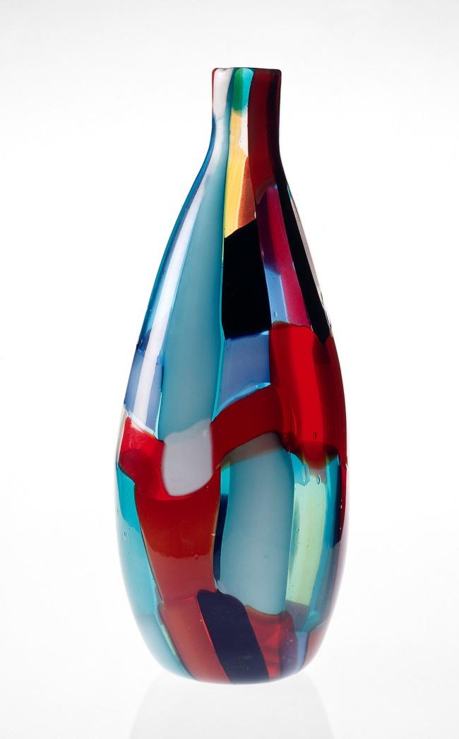 Venini & Co., Murano (manufacturer) Italy est. 1921 Fulvio Bianconi (designer) (Italy, 1915-96) 'Patchwork (Pezzato) vase' c. 1950
