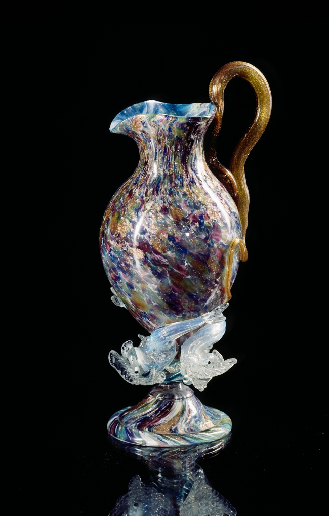 Venice And Murano Glass And Mosaic Company, Venice (manufacturer) Italy est. 1859 'Jug' c. 1880