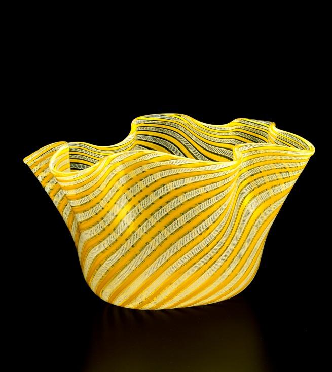 Venini & Co., Murano (manufacturer) Italy est. 1921 Fulvio Bianconi (designer) (Italy 1915-96) 'Handkerchief (Fazzoletto) vase' 1949