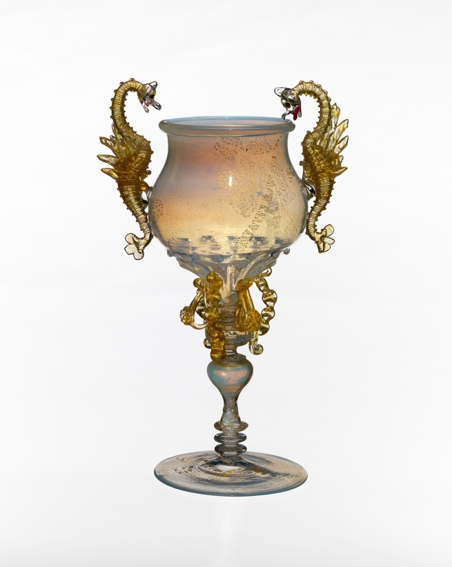 Venice And Murano Glass And Mosaic Company, Venice (manufacturer) Italy est. 1859 'Goblet' c. 1880