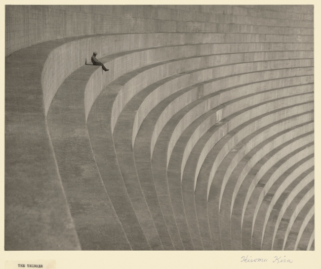 Hiromu Kira (American, 1898-1991) 'The Thinker' about 1930