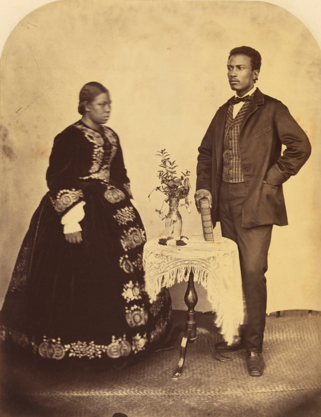 Reverend William Ellis (British, 1794-1872) and Samuel Smith. '[Portrait of a Black Couple]' about 1873