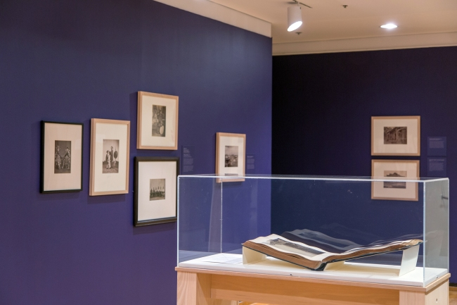 Installation image of the exhibition 'Lai Fong (ca. 1839-1890): Photographer of China' at the Herbert F. Johnson Museum of Art, Cornell University