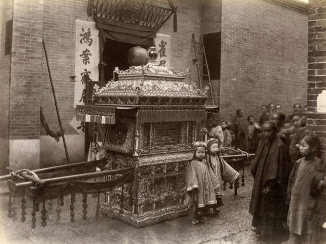 Lai Fong (Chinese, 1839-1890) 'Bridal Carriage' 1870s