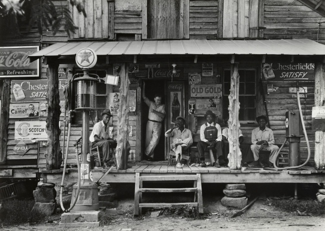 Dorothea Lange (American, 1895-1965) 'Crossroads Store, North Carolina' July 1939, printed 1965