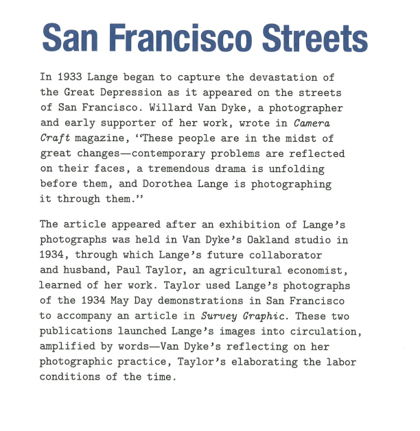 Lange San Francisco Streets