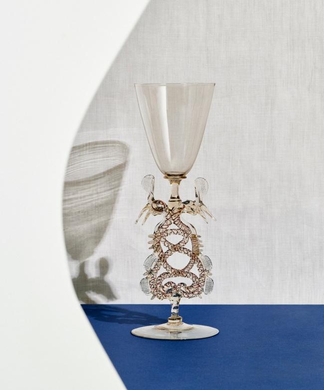 The Netherlands, Holland / Germany. 'Serpent-stem goblet (Flügelglas)' early 17th century