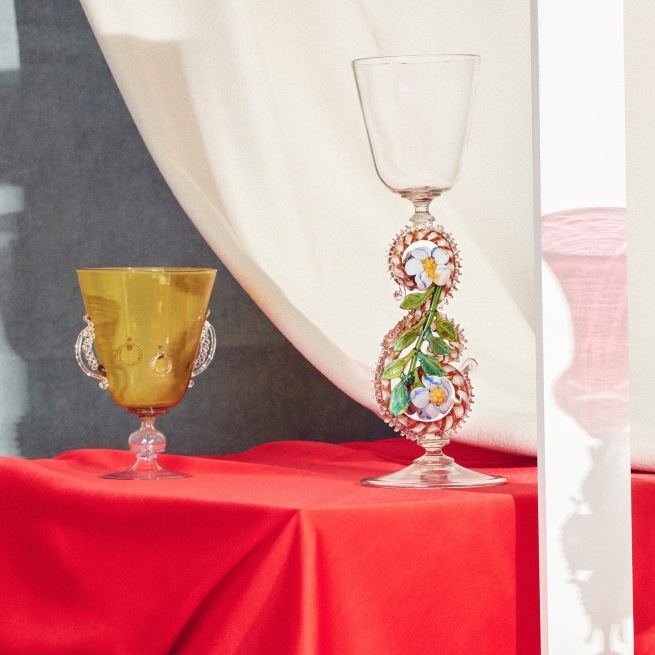 Installation view of 'Liquid Light: 500 Years of Venetian Glass' on display at NGV International