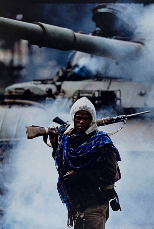 Françoise Demulder (French, 1947-2008) 'The capture of Addis Ababa: a partisan of the Revolutionary Democratic Front of the Ethiopian Peoples, Ethiopia' 30 May 1991
