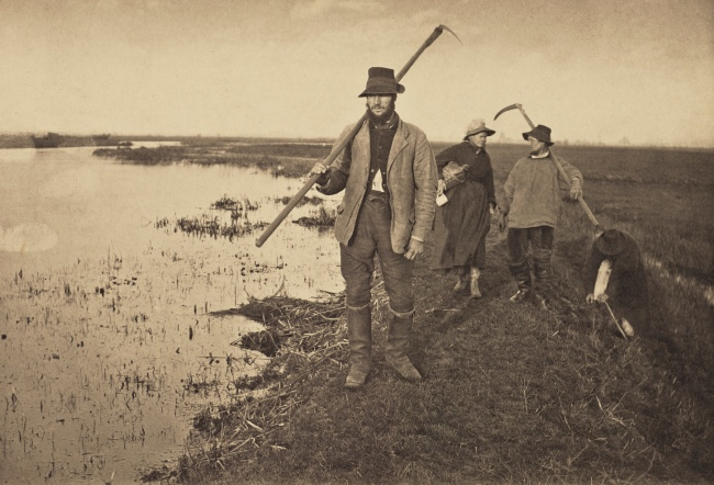 Peter Henry Emerson (British, born Cuba, 1856-1936) 'Coming Home from the Marshes' 1886