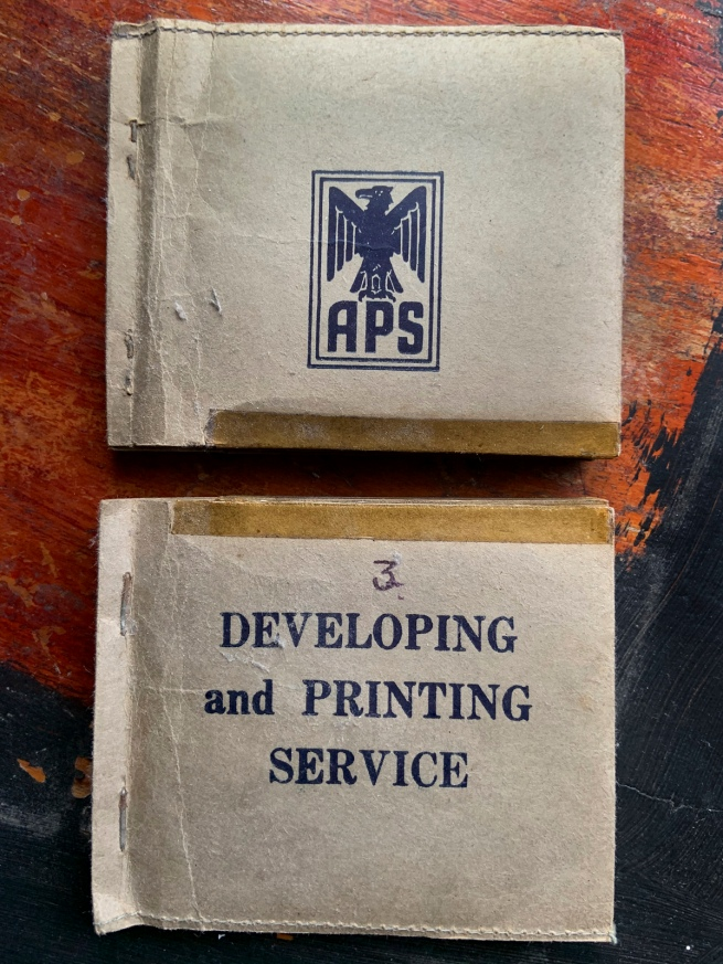 APS (Australian Photographic Services?) Developing and Printing Service 'Film packets and negatives' 1946-47