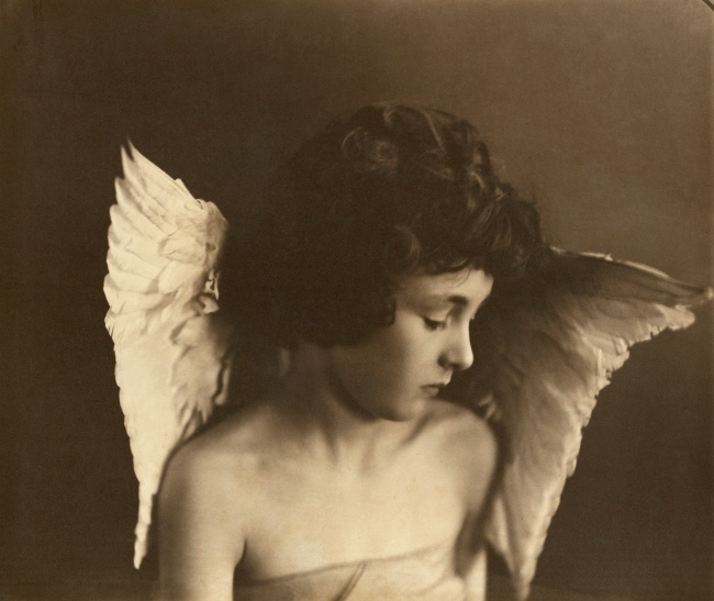 Eveleen W. H. Myers (British, 1856-1937) 'Leopold Hamilton Myers as 'The Compassionate Cherub'' about 1888-1891