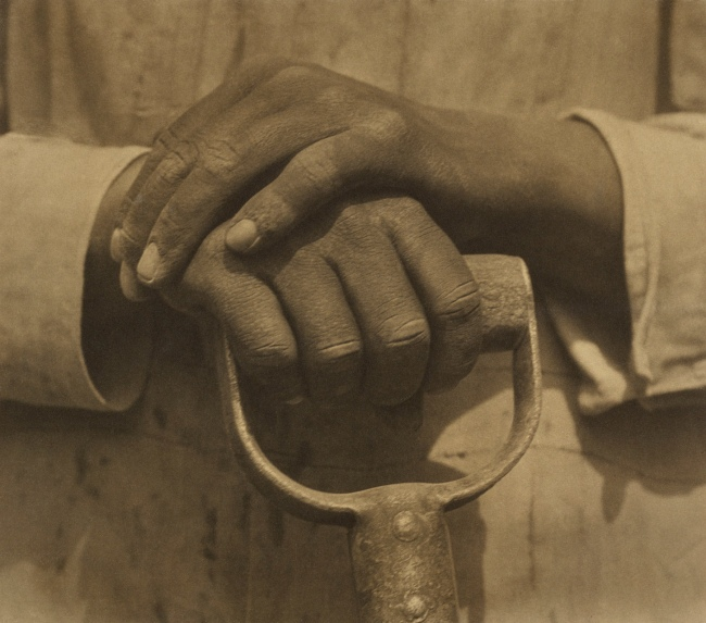 Tina Modotti (American, born Italy, 1896-1942) 'Hands Resting on Tool' 1927