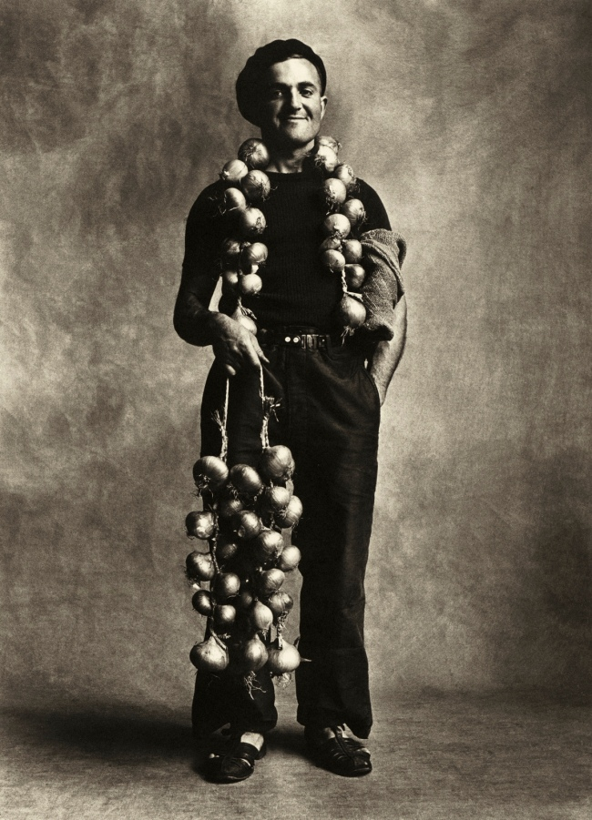 Irving Penn (American, 1917-2009) 'Breton Onion Seller, London' Negative 1950; print 1967