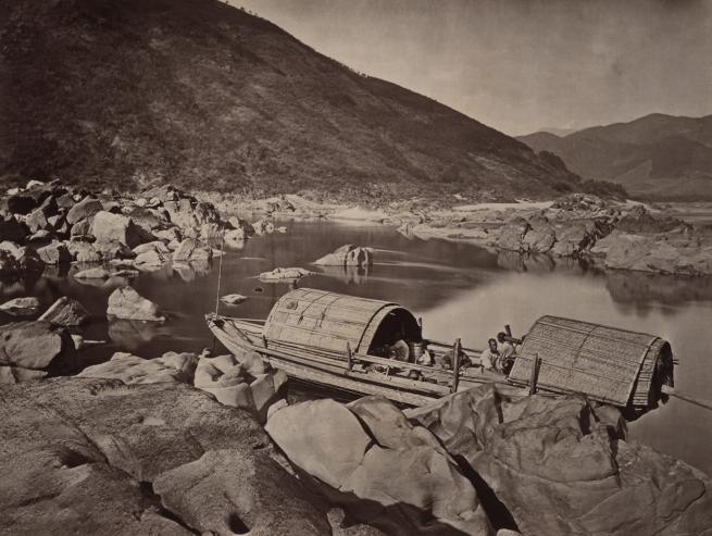 John Thomson (Scottish, 1837-1921) 'A Rapid Boat' 1870-1871