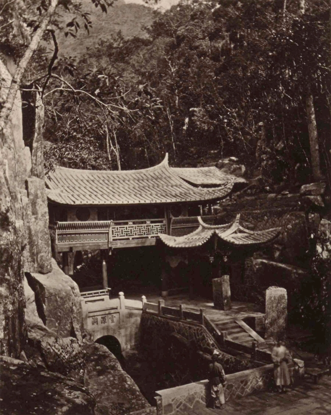 John Thomson (Scottish, 1837-1921) 'A Small Temple at Ku-Shan' 1870-1871