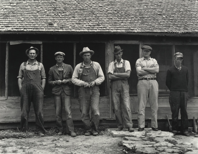 Dorothea Lange (American, 1895-1965) 'Six Tenant Farmers without Farms, Hardeman County, Texas' 1937, printed 1965