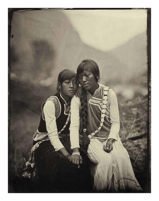 Luo Dan (Chinese, b. 1968) 'Simple Song No. 4 (Yang Du Lei and Her Sister Yang Hua Lin, WaWa Village)' 2010