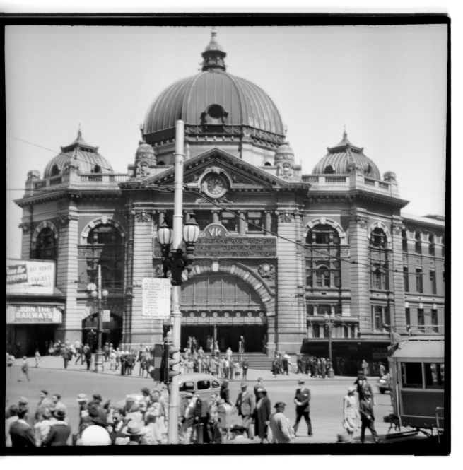 Unknown photographer (Australian) 'Untitled (Flinders Street railway station)' 1946-47