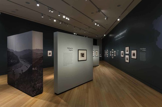 Installation view of the exhibition 'A Lasting Memento: John Thomson's Photographs Along the River Min' at the Peabody Essex Museum (PEM), Salem MA