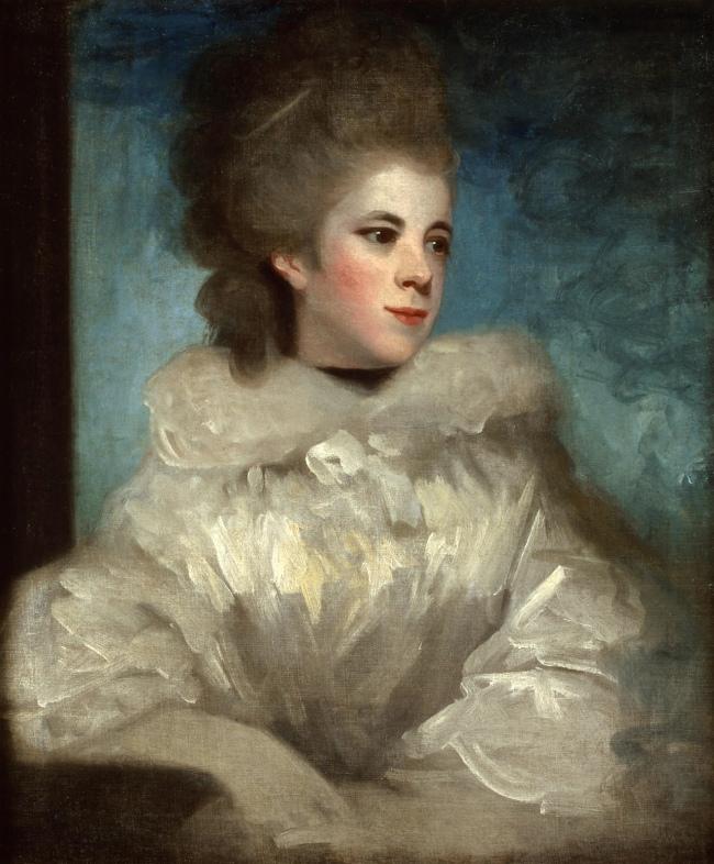 Joshua Reynolds (British, 1723-1792) 'Portrait of Mrs. Abington (1737-1815)' 18th century