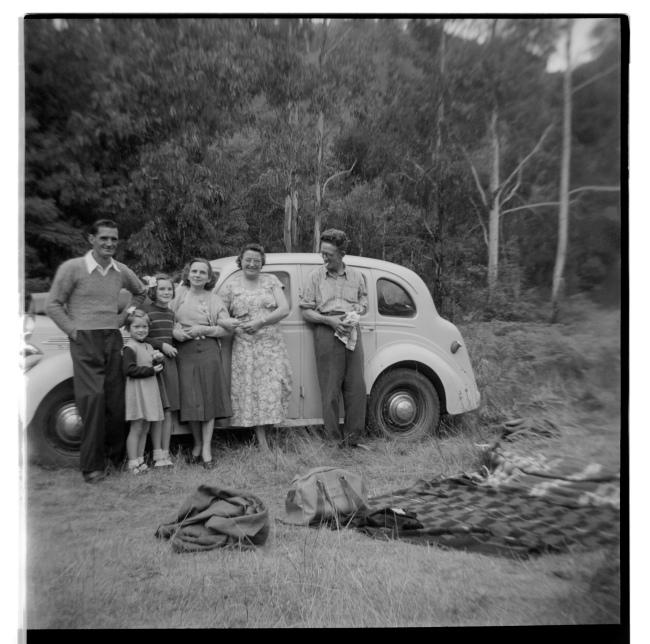 Unknown photographer (Australian) 'Untitled (Picnic, family and car)' 1946-47