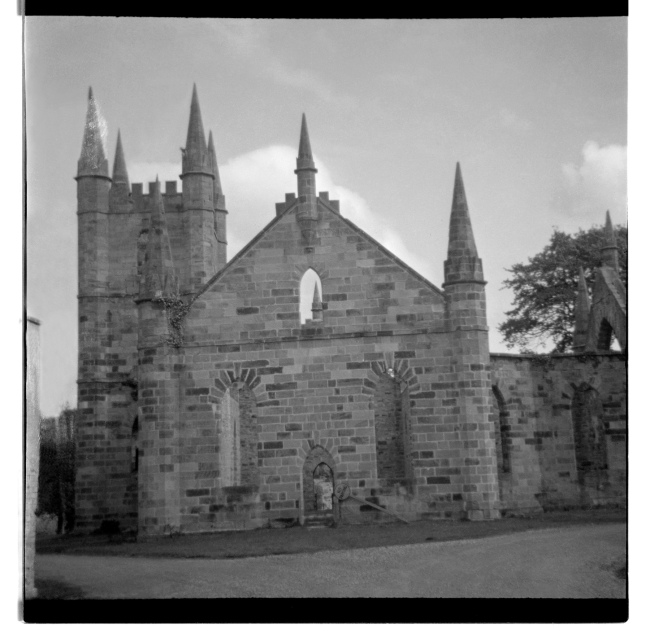 Unknown photographer (Australian) 'Untitled (Convict-built church at Port Arthur convict colony ruins, Tasmania)' 1946-47