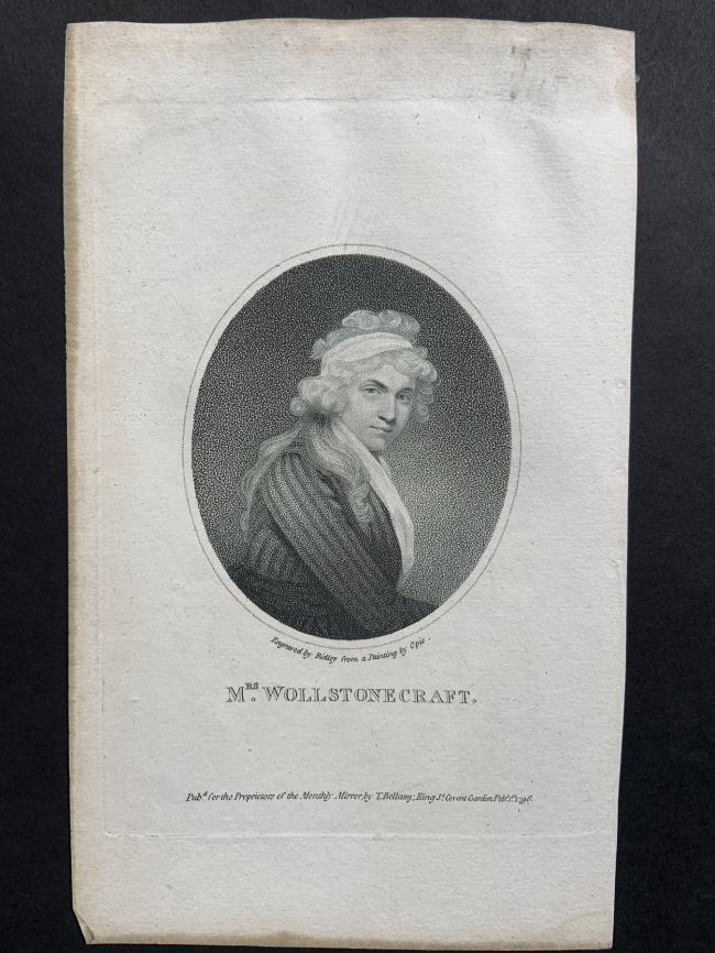 William Ridley (British, 1764-1838) 'Mrs Wollstonecraft' Feb. 1st, 1796