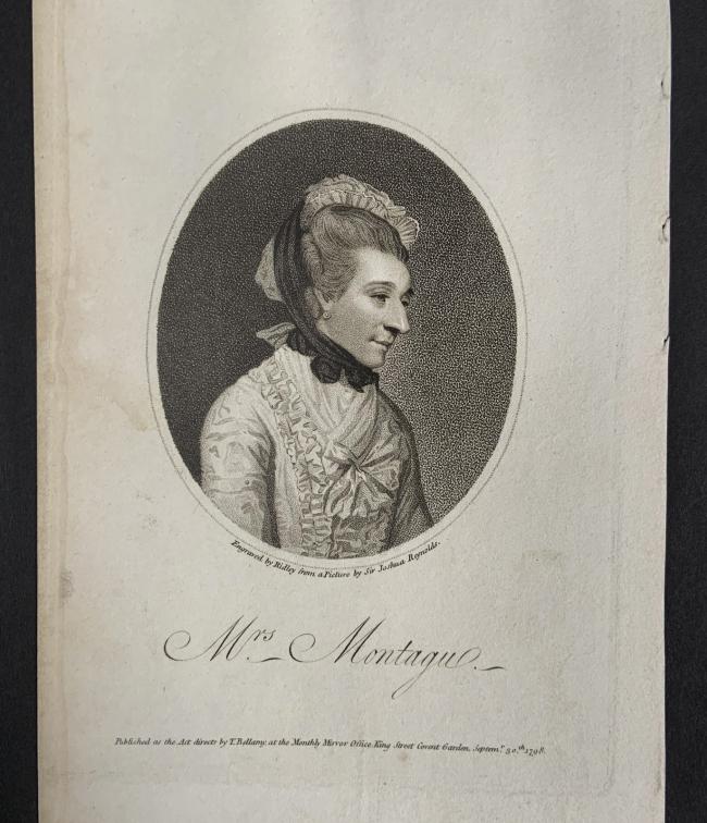 William Ridley (British, 1764-1838) 'Mrs Montagu' Septemr 30th, 1798