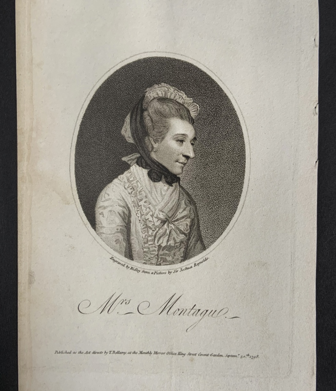 William Ridley (British, 1764-1838) 'Mrs Montagu' Septemr 30th, 1798