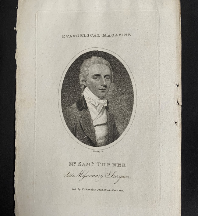 William Ridley (British, 1764-1838) 'Mr. Saml. Turner, late Missionary Surgeon' Mar 1, 1801