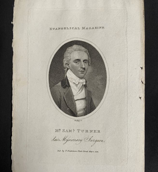 William Ridley (British, 1764-1838) 'Mr. Saml. Turner, late Missionary Surgeon' Mar 1, 1801