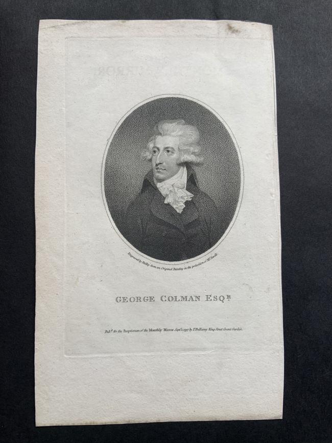 William Ridley (British, 1764-1838) 'George Colman Esqr 1797