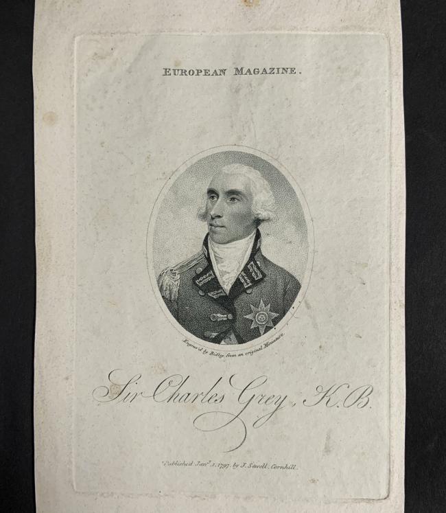 William Ridley (British, 1764-1838) 'Sir Charles Grey, K.B.' Jany. 1, 1797