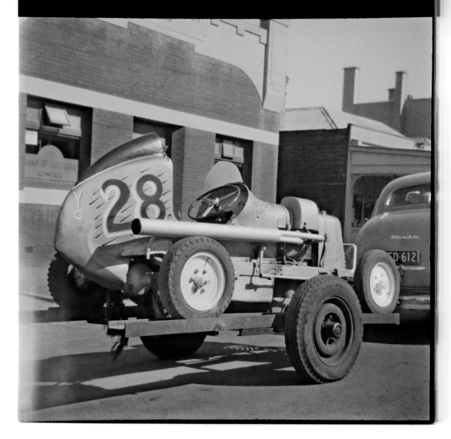 Unknown photographer (Australian) 'Untitled (Bill Edwards speedcar, Victoria)' 1946-47