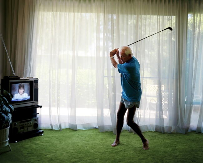 Larry Sultan (American, 1946-2009) 'Practicing Golf Swing' 1986