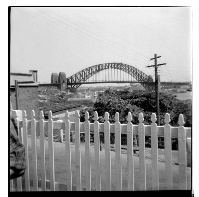 Unknown photographer (Australian) 'Untitled (Lavender street, Lavender Bay looking towards the Sydney Harbour Bridge)' 1946-47