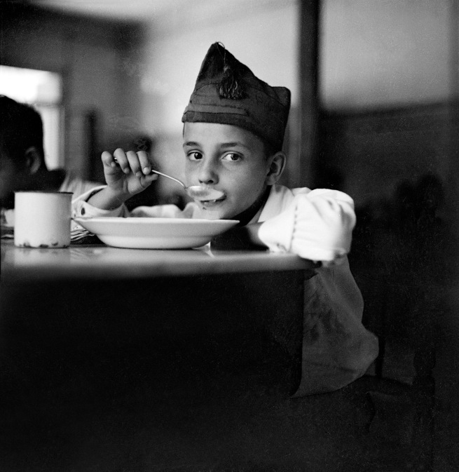 Gerda Taro (German, 1910-1937) 'War orphan eating soup, Madrid, Spain' 1937