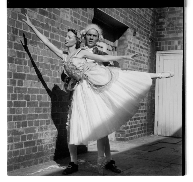 Unknown photographer (Australian) 'Untitled (Man and ballerina)' 1946-47