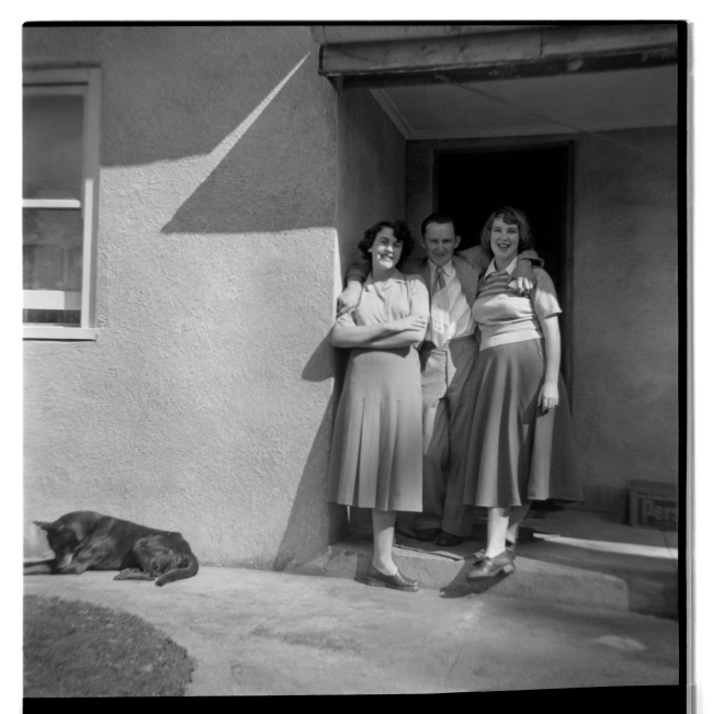 Unknown photographer (Australian) 'Untitled (Two women, a man and a dog)' 1946-47