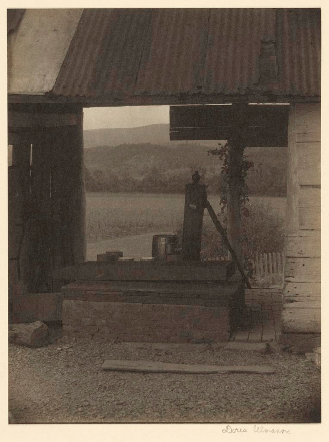 Doris Ulmann (American, 1882-1934) 'Landscape with Pump and Barn' about 1920-1934