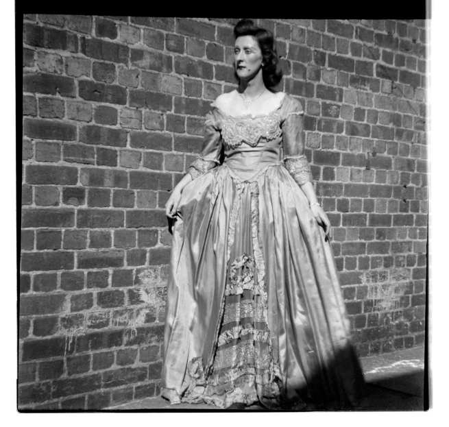 Unknown photographer (Australian) 'Untitled (Women in gown)' 1946-47