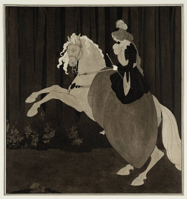 Aubrey Beardsley (British, 1872-1898) 'Frontispiece to Chopin's Third Ballade' 1895