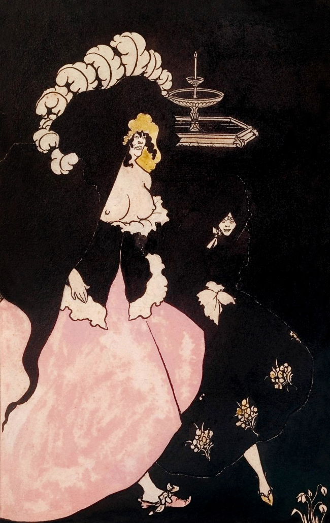 Aubrey Beardsley (British, 1872-1898) 'Messalina and her Companion' 1895