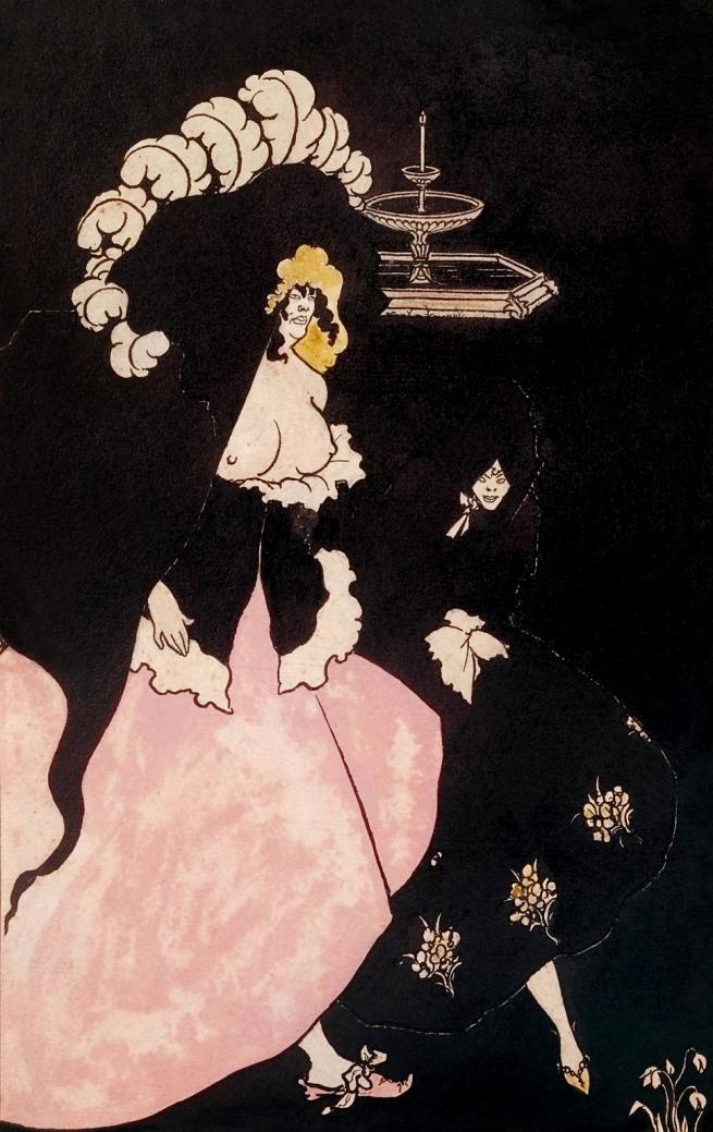 Aubrey Beardsley (British, 1872-1898) 'Messalina and her Companion' 1895