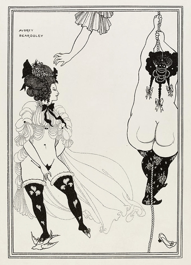 Aubrey Beardsley (British, 1872-1898) 'Two Athenian Women in Distress' 1896