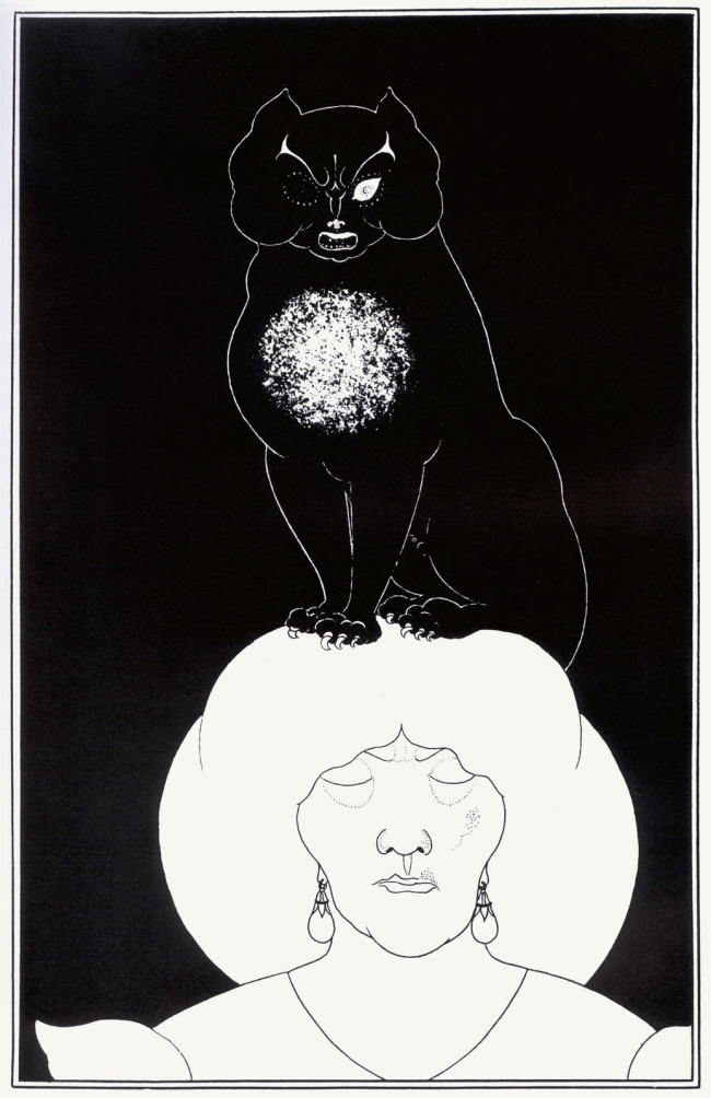 Aubrey Beardsley (British, 1872-1898) 'The Black Cat' 1894-5
