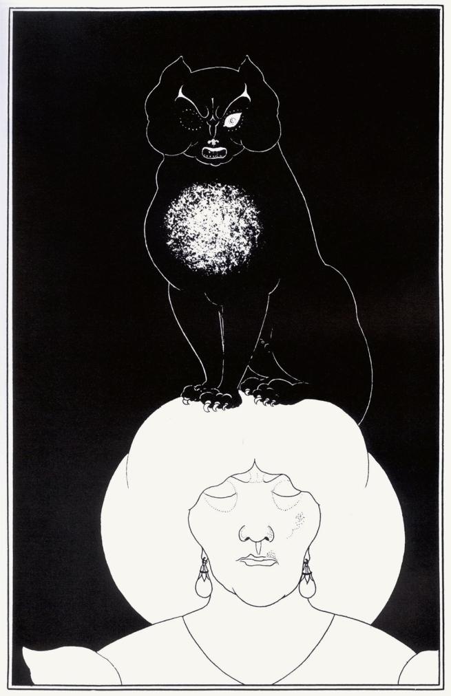 Aubrey Beardsley (British, 1872-1898) 'The Black Cat' 1894-5