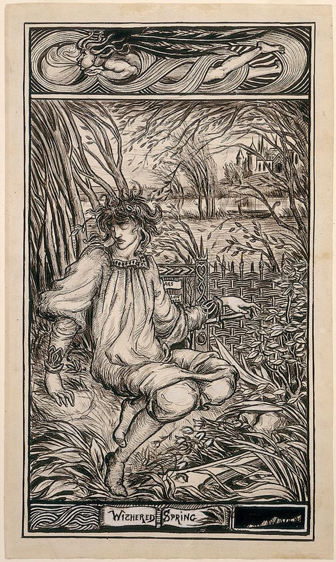 Aubrey Beardsley (British, 1872-98) 'Withered Spring' 1891